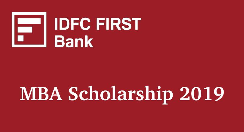 IDFC FIRST Bank MBA Scholarship 2019   AISEE