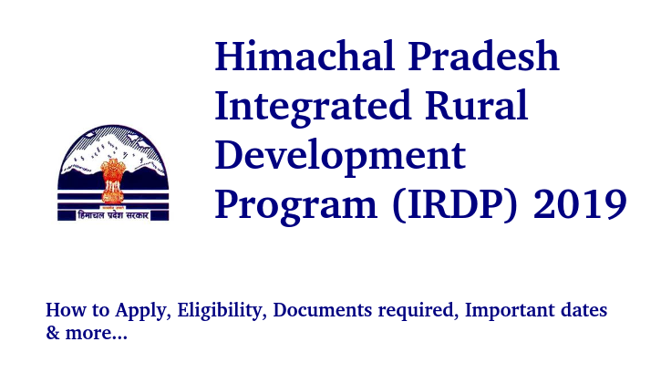 Himachal Pradesh Integrated Rural Development Program 2019
