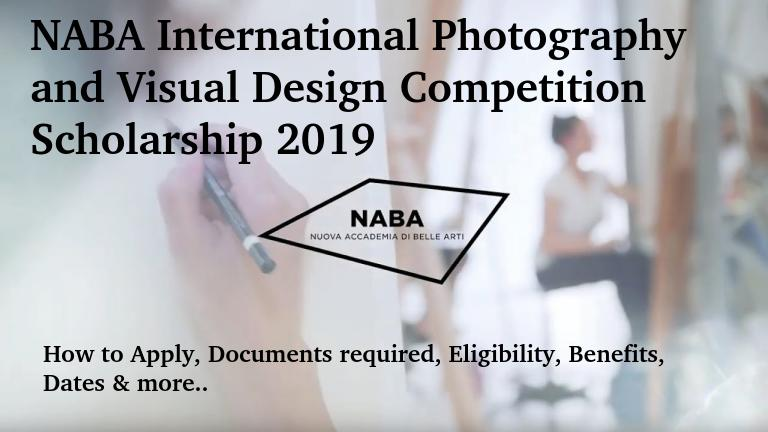 NABA International Photography and Visual Design Competition Scholarship 2019