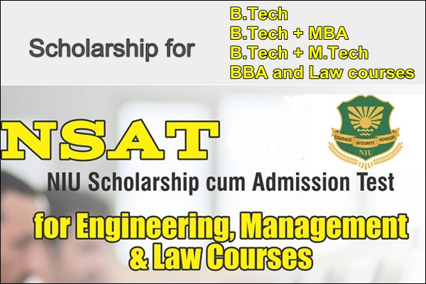 Noida International University (NIU) Scholarship cum Admission Tes